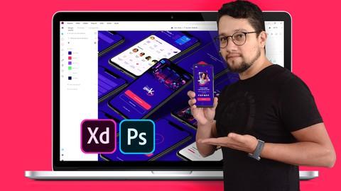 UI Design AVANÇADO + Etapas de UX DESIGN [Adobe XD e PSD]