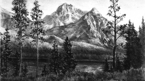 Landscapes, Drawing Mountains, Trees and Water