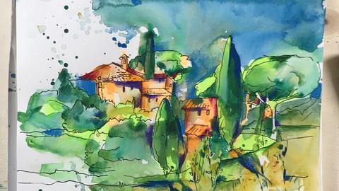 Креативный скетчинг. Часть 1. Тоскана
