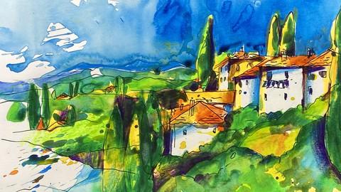 Kreatives Sketching. Toskana. Teil 1