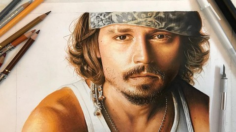 Realistic Colored Pencil Drawing: Portrait Drawing Course