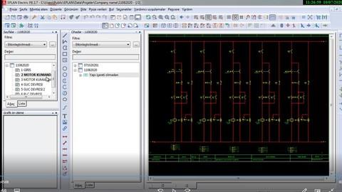 Endüstriyel Tesislerde Elektrik Projesi AutoCAD EXCEL EPLAN