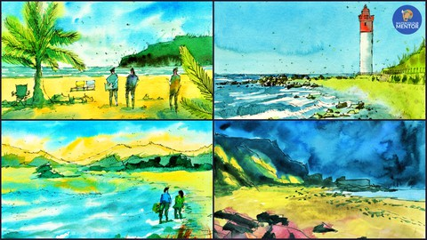 Watercolor Painting Essentials - Line and Wash Sketching