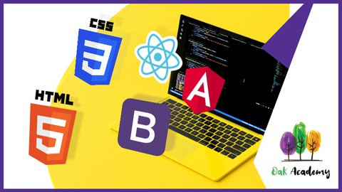 Web Development with HTML, CSS, Bootstrap,React JS & Angular
