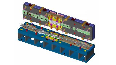 Solidworks 2020 İle Sac Metal Kalıp Tasarımı Eğitim Seti