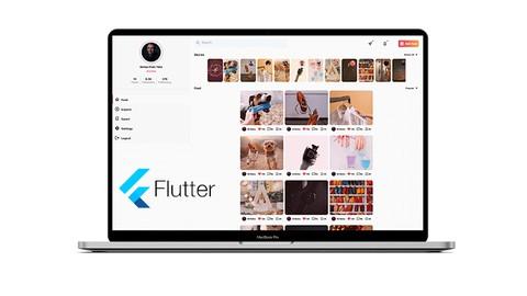 عمل موقع انستقرام بفلتر ويب - Instagram web with Flutter