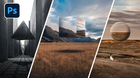 Photoshop Compositing: Floating Metal Shapes