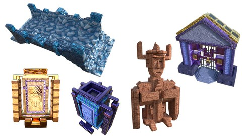 Video Game Assets Series 2:  Creating 4 buildings in ZBrush
