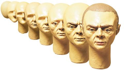 Лепим голову человека. Sculpting a man's head