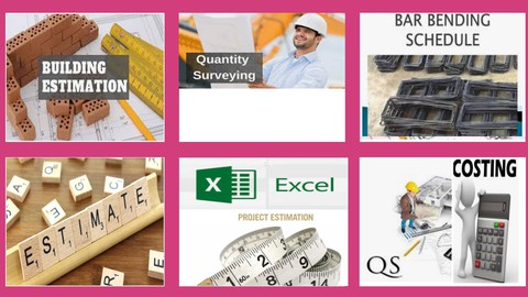 Quantity Surveying Building Estimation & BBS with Excel Caad