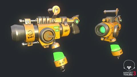 Blender - Modéliser et texturer une arme cartoon 3D