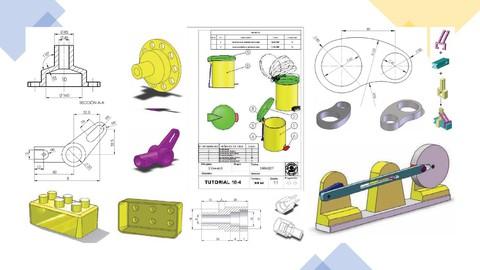 SolidWorks con 26 ejercicios prácticos