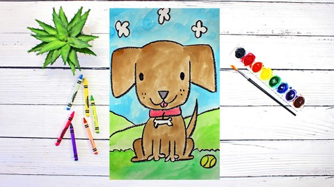 Drawing & Painting Cute Cartoon Animals for Kids & Beginners