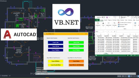 Programming AutoCAD to Excel using VB.NET - Hands On!