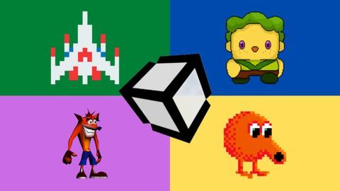 Aprenda Unity criando 4 Jogos sem Precisar Programar