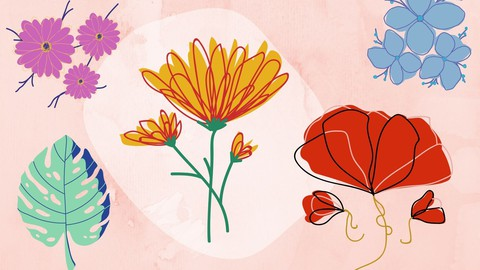 Learn Flower Drawing : Step-By-Step , for Kids & Beginners