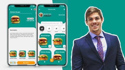 Flutter Hamburger App - Flutter UI - Google, Flutter & Dart