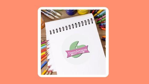 Marcado de cuaderno con colores y marcadores