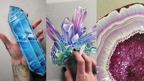 Drawing and Coloring Crystals