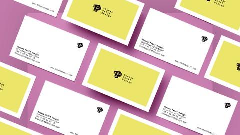 InDesign CC | Création d'une carte de visite minimaliste !