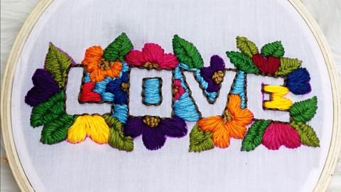 تطريز يدوي بابرة النفاش embroidery needle