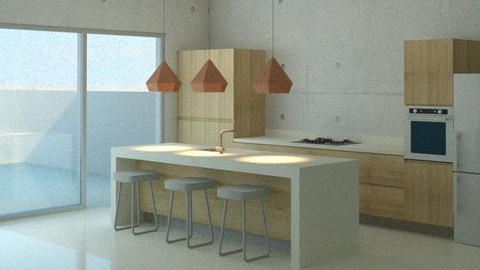 Kitchen Design with  Revit