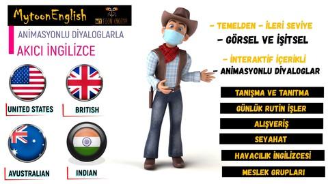 Mytoon English ile Animasyonlu İngilizce Eğitim Seti