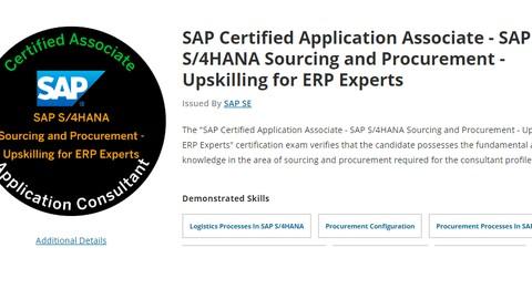 SAP MM HANA Certification Question (C_TS450_1909)