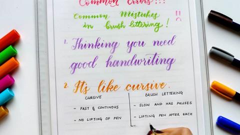 Brush Pen Lettering: Modern Calligraphy Course for Beginners