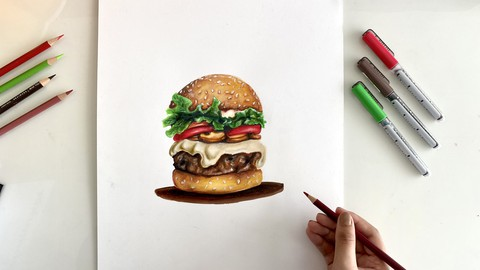 Realistic Art with Coloured pencils