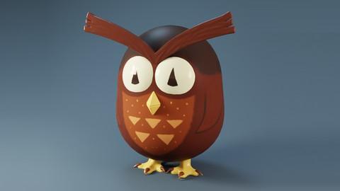 Blender 3D - Create a Cartoon Owl