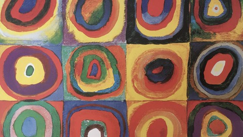 3 Wassily Kandinsky art lessons for beginners. Abstract art.