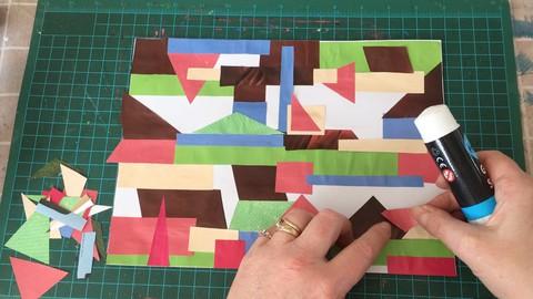 3 art lessons for beginners inspired by Bridget Riley's art.