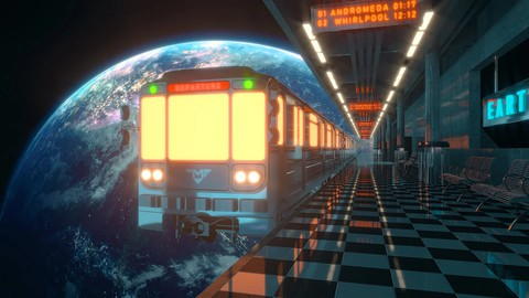 Create A Space Train Scene With Cinema 4D & Redshift Render