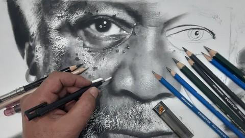 Çizim Sırları , Drawing Secrets ,Hiperrealist Portre Çizim