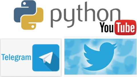 Python with Twitter, Telegram and Youtube