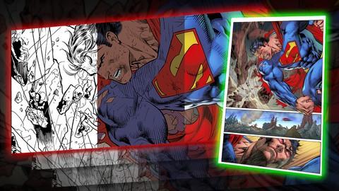 Color digital básico para cómics en Adobe Photoshop