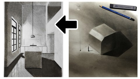 shading in perspective drawing step by step