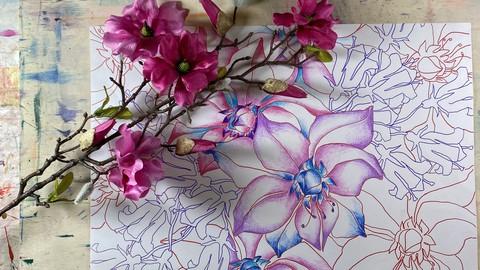 Ковер из цветов. Графика и иллюстрация