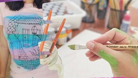 Lucrando pintando camisetas