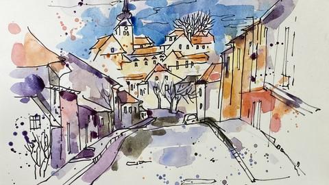 Aquarell und Grafik. Teil 2 Weinviertel. Landschaften