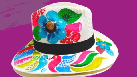 Pintar un sombrero con Pintura Acrilica
