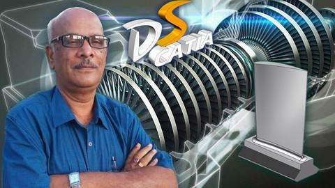 Gas Turbine Engine Compressor Blade Design in CATIA V5