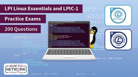 LPI Linux Essentials & LPIC-1 Practice Exams (200 Questions)