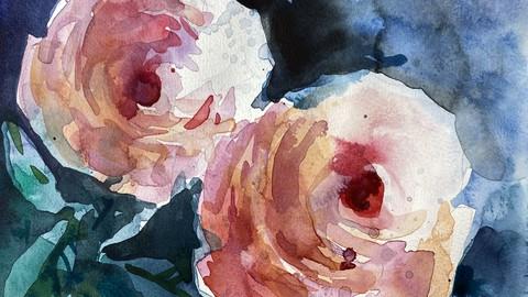 Чистая акварель. Чайные розы
