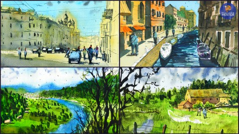 Simplify Your Painting: Paint 5 Watercolor Landscapes