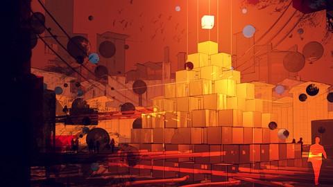 Illustrate a Dystopian City, Painting Techniques + Cinema 4D
