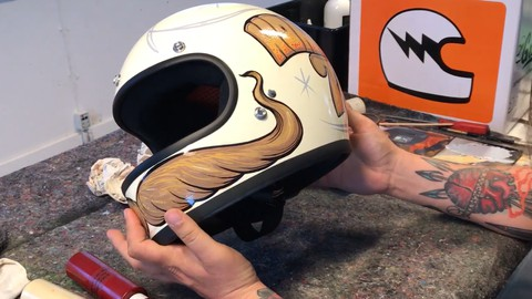 How to Paint Helmets with brush and enamel paint