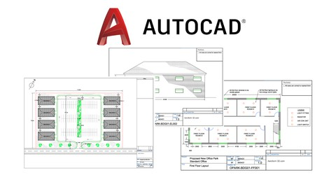 AutoCAD 2022 2D Practice Drawings - Architectural Example