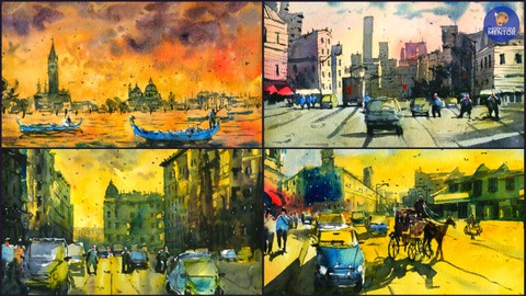 Paint Vibrant Landscapes In Watercolor